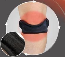 Adjustable Patella Knee Tendon Strap Protector Guard Support Pad Belted Sports Knee Brace Black