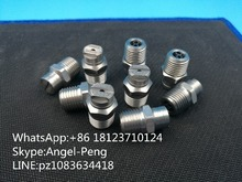 "High quality 1/4"" MEG Stainless steel flat fan nozzle,MEG High pressure road sweeper spray nozzle"