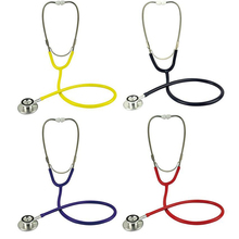 Portable Dual Basic Stethoscope Head Doctors Nurses Clinical Medical Auscultation First Aid EMT Health #EC031(China)