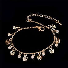 H:HYDE New Fashion Women Multi-styles Beach Anklets Crystal Rhinestone Ankle Foot Jewelry For Women Girl Gift