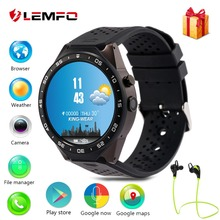 Lemfo kw88 Android 5.1 Smart Watch 512MB + 4GB Bluetooth 4.0 WIFI 3G Smartwatch Phone Wristwatch Support Google Voice GPS Map