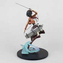 Huong Anime Figure 23 CM Attack on Titan Mikasa Ackerman Battle ver. PVC Action Figure Toy Collectibles Model Doll(China)