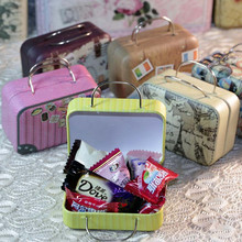 Suitcase Shape Candy Tea Storage Tin Box,Wedding Favor Storage Organizer,Coffee Small Gift Jewelry Box Coin Bag Small Metal Box