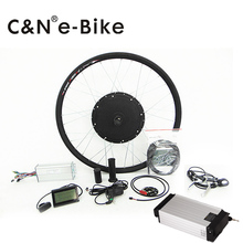 55kph high speed 48v 1000w electric bike conversion kit with 48v 16ah rear rack lithium battery