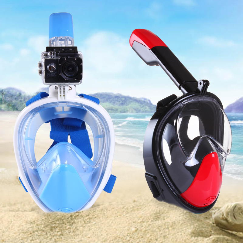 2017 new Underwater Scuba Anti Fog Full Face Diving Mask Snorkeling Set Respiratory masks Safe and waterproof<br>