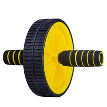 PVC Single AB Rollers Breaststroke Abdomen Exerciser Gym Fitness Home Use  Two-wheel Waist Abs Wheel Roller