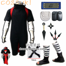 Free Shipping! Newest! Stock! Naruto Uchiha Sasuke Adult Cosplay Costume Suits ,Perfect Custom For you!