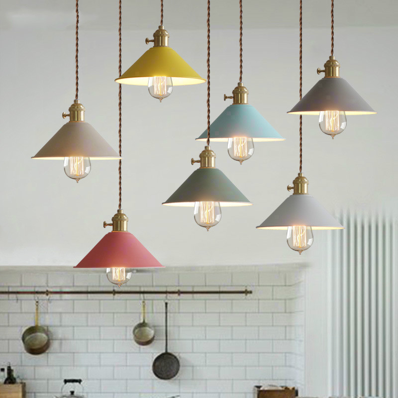Dia 26 cm Modernity Macarons color umbrella Pendant lamp minimalist modern creative Cafe Bar Restaurant bedroom pendant light<br>