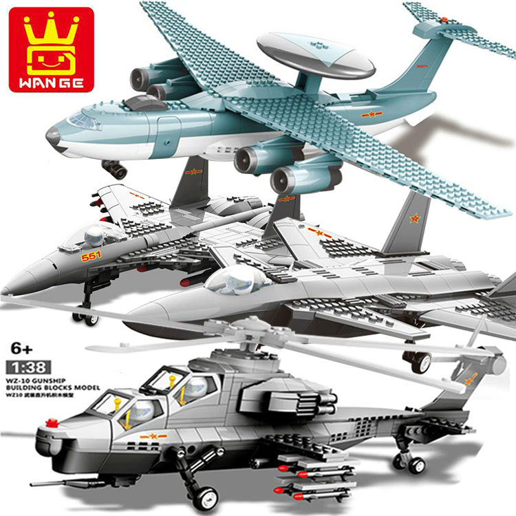 Fun Childrens building blocks toy compatible Legoes fighter Helicopter bomber model intelligence education building block toy<br>
