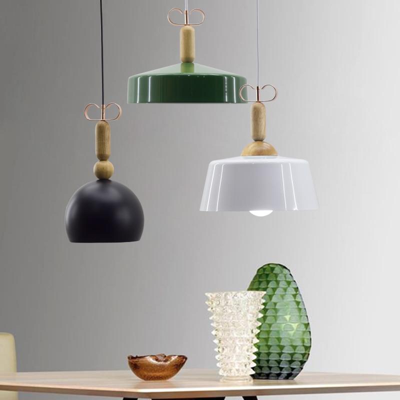 Fashion Indoor lighting pendant lights Wood and aluminum lamp restaurant bar coffee dining room LED hanging light fixture<br>