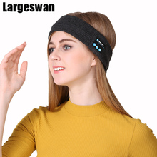 Largeswan Brand Bluetooth Headband Hair Accessories For Women Summer Men Music Sport Sweatband For Fitness Yoga Running Hiking(China)