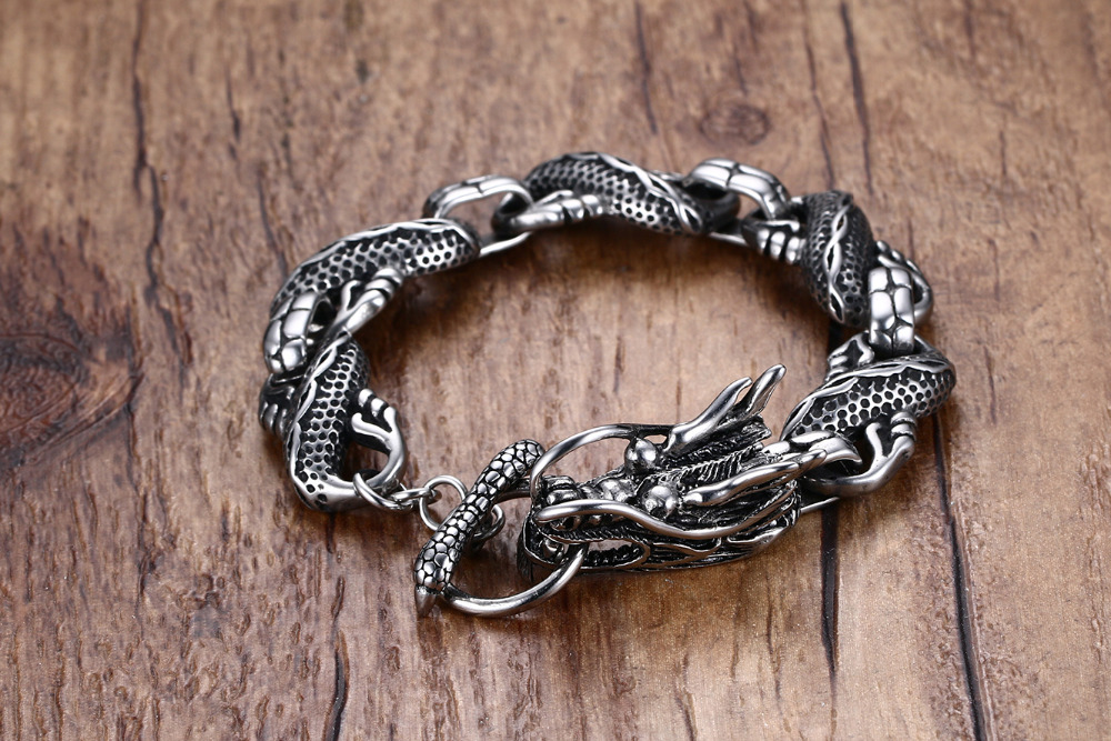 Punk Dragon Stainless Steel Bracelet