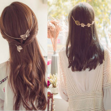 New fashion  Accessories leaf headbands hairpins & butterfly headbands hairpins  gift for women girl H423