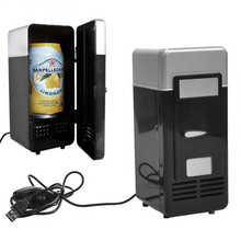 mini fridge cooler portable USB Fridge Cooler Gadget with Warmer USB Beverage cans beer Drink cooler and warmer(China)