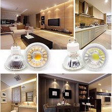 1pcs Super Bright Dimmable GU10 COB 9W 12W  LED Bulb Lamp AC110V 220V spotlight Warm White/Cold White led LIGHTING