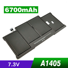 "6700mAh Laptop Battery for Apple Macbook Air 13"" A1369 A1377 A1405 A1466 MC504 MD231 MD232 MC965 MC966 Premium Tablet Batteries"