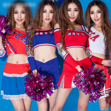 Cheerleading Uniforms Football Basketball Girls Red Color Cheerleading Uniforms free 2 Piece Women Cheerleader Costum