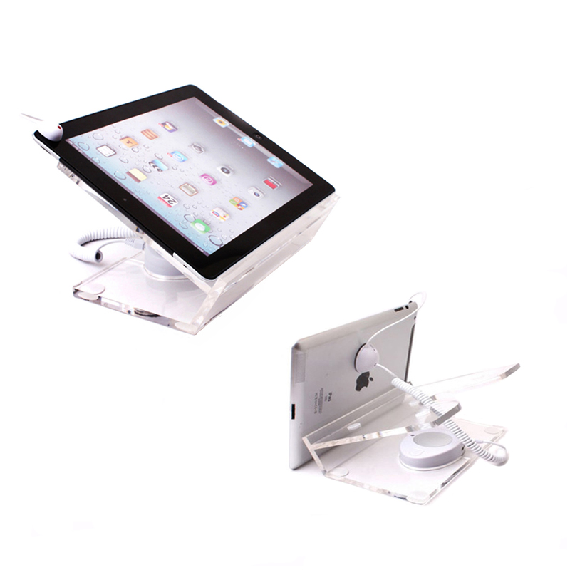 10xChargeable tablet security display Ipad Acrylic stand burglar alarm retail loss prevention anti-theft device with sensor<br>