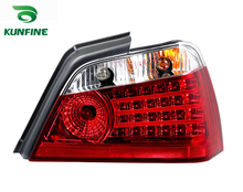 KUNFINE Pair Of Car Tail Light Assembly For PROTON WAJA 2000-2016 Brake Light With Turning Signal Light(China)