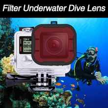 Newest GoPro Hero4/3+Mini Camcorder Gopro Accessories Polarizer Red Filter Underwater Dive Lens Filter Underwater Diving Filter