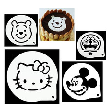 Easy DIY Cartoon Cake Tool Chocolate Powdered Sugar Cocoa Printing Spray Mold Sugar Cake Tiramisu Powder Sieve Hello Kitty Mold