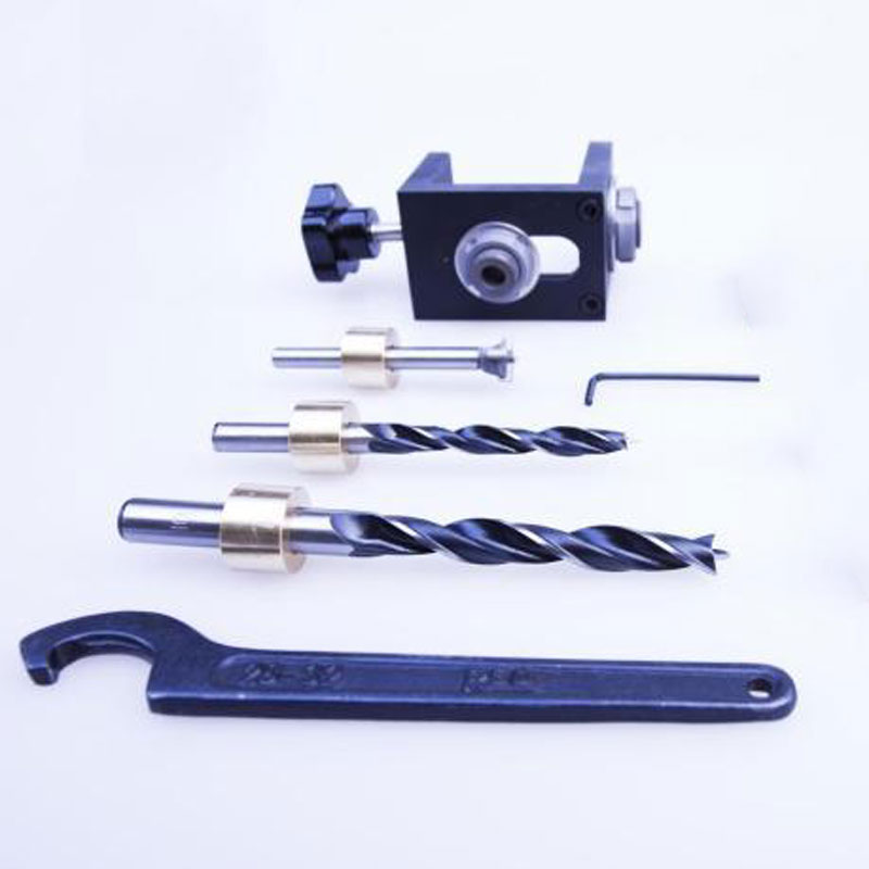 3 In 1 Dowel Jig Wood Hole Drilling Dowelling Jig Tool Kit for Woodworking<br>