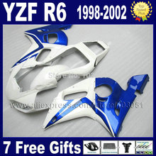 Custom free motorcycle fairings kit for YAMAHA YZF R6 1998 1999 2000 2001 2002 YZF600 02 01 00 99 98 YZFR6  aftermarket fairing