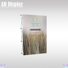 5ft High Quality Exhibition Advertising Pop Up Display Stand With Stretch Fabric Banner Printing(No Light)(China)