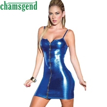 2017 Newly Fashion Exotic Women Sexy lingerie Jumpsuits Clubwear Stripper Patent Leather Teddies Latex Bodysuit Mujers 43De93