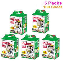 Genuine 20pcs/box Fujifilm Fuji Instax Mini White Film 100 Sheet Instant Photo Paper For Instax Mini 8 7s 25 50s 55 SP-1 Camera