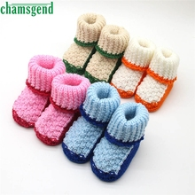 CHAMSGEND baby shoes baby moccasins cute winter autumn new Handcraft Shoes Toddler Baby Knitting Lace Crochet Shoes S35