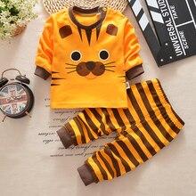 2017 Autumn Baby Boy Clothes Long sleeve T shirt + pants 2pcs cartoon cat casual suit newborn clothes baby girl boys clothing