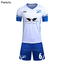 Custom Adult Soccer Uniform Outfit Training Football Jerseys Kit Soccer Tracksuit Jerseys Football Kit survetement football 2017(China)