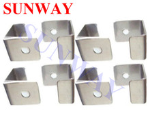 8 Pcs/Lot Stainless steel Glass Clip For Table Top Cocktail Machine - Arcade Parts of Arcade Game Machine(China)