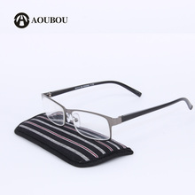 High-end Business Reading Glasses Men Stainless Steel PD62 Glasses Ochki 1.75+3.25 Degree Gafas De Lectura A115