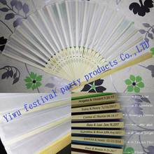 promotion personalized silk hand fan wedding fan Silk Fan Hollow Out Hand Folding Fans Outdoor Dancing Wedding Party Favor(China)