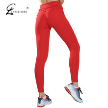 Buy CHRLEISURE Women's Fitness Push Leggings Activewear High Waist Legging Candy Colors Workout Leggins Women Jeggings 5 Colors for $7.98 in AliExpress store