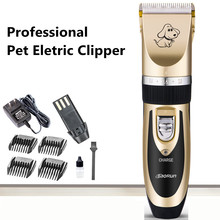 Professional Pet Eletric Clipper Ceramic Comb Efficient Pet Dog Cat Clipper For Small Large Dogs Cats Pet Cleaning Products(China)