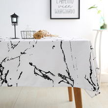 Marble Pattern Dinner Tablecloth Christmas Rectangular Cotton Table Cloth for Home Table Covers for Kitchen Weddings Table Decor(China)