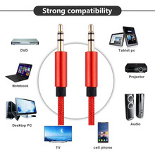 AUX Cable-Nylon,0.3m 1m 2m 3m 5m, Copper Shell/Ultra Durable] 3.5mm Premium Auxiliary Audio Cable for Car Home Stereos Beats and