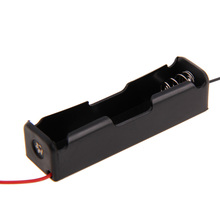 5 Pcs New 18650 Battery 3.7V Clip Holder Box Case Black With Wire Lead for Soldering / Connecting(China)