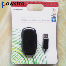 POWSTRO Wireless Gamepads Receiver For Xbox 360 2.4G Controller Receiver Adapter with Driver CD for Microsoft XBOX 360 PC