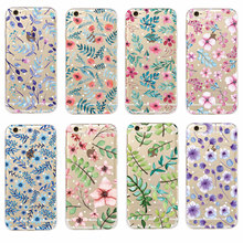 Buy iPhone 7 7Plus 6 6S 6Plus 5 5S 8 8Plus X SAMSUNG Fashion Vintage Floral Plant Leaves Flower Dots Soft Phone Case Fundas for $1.39 in AliExpress store