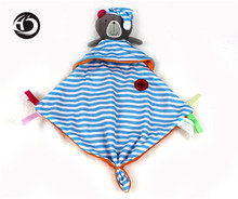 Top 20cm Baby Toys bule bear Scarf Handkerchief appease Towel Rattles Crap Doll Gift For Soothe Calm Towel Educational Plush Toy