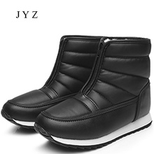 2017 New Fashion Womens Ankle Boots Snow Boots Shoes Lady Winter Warm Fur Plus Big Large Size Shoes Female 40 41 aa0302