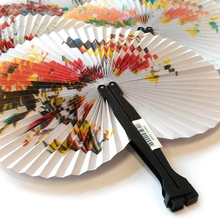 12x Chinese traditional paint mini paper folding fan party favors gifts loot bag pinata stock fillers prizes small toys for fun.