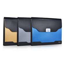 13-Pockets A4 Size Folder Document Bag Expandable Accordion Document File Folder Organizer Expander Holder Bag w/ Buckle Closure(China)