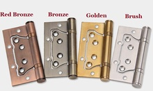 "2PCS/LOT 4""*3""*3mm Stainless Steel Non-Mortise Hinges With Matching Screws, Real Ball Bearing Smooth and Silent Motion"