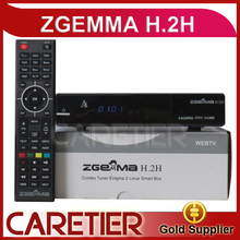 2PCS Zgemma H.2H TV Box Media Player Channel Receiver HD up to 1080p 2015 Latest DVB-S2+ Hybrid Tuner DVB-T2/C 2pcs/lot by DHL(China)