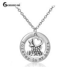 Cute I Love My Wife Letters Heart Necklace Pendant Romantic Valentine's Day Anniversary Gift For Wife Her Fashion Jewelry
